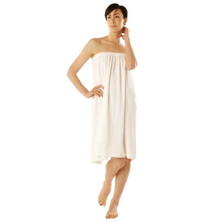 "Canyon Rose Terry Spa Wrap 1 Size 33"" White"