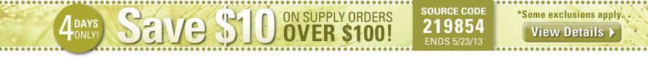 $10 off supplies!