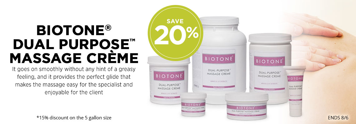 20% Off Biotone Dual Purpose Massage Creme