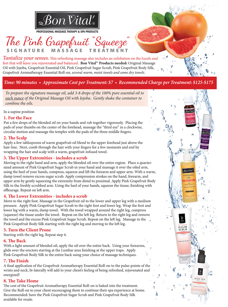 BV Pink Grapefruit Squeeze Treatment