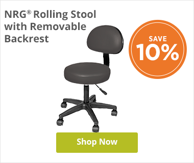 NRG Rolling Stool with removable backrest