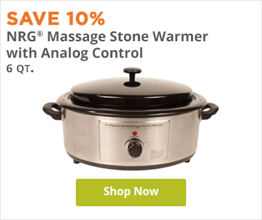 NRG 6 Quart Massage Stone Warmer and Heater with Analog Control