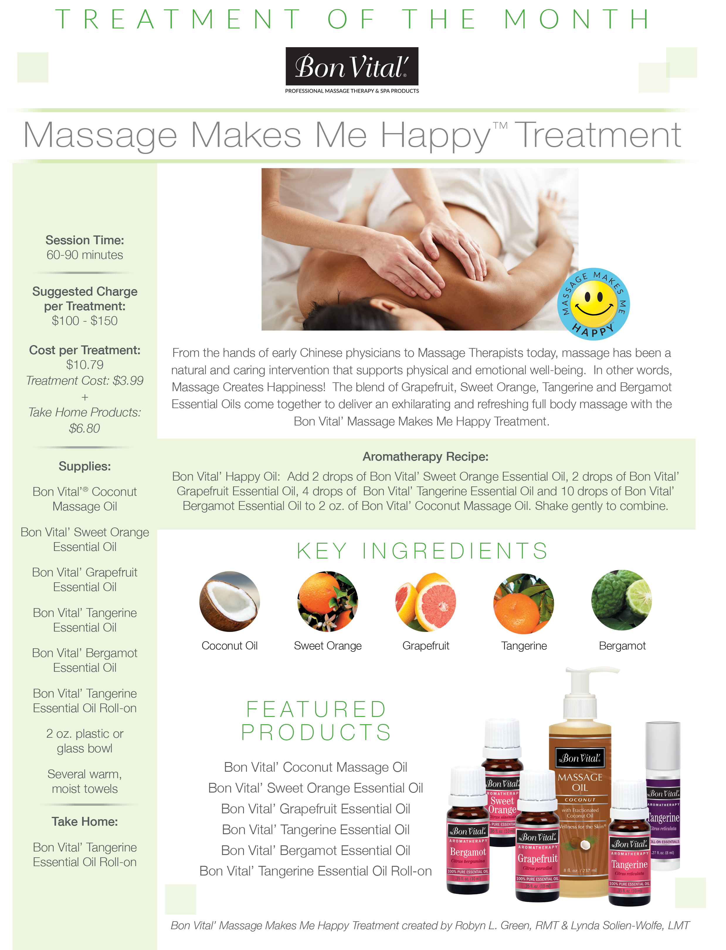 Massage Makes Me Happy Treatment