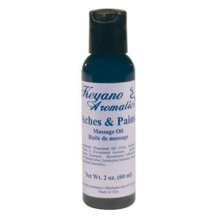 Keyano Aromatherapy Massage Oil 2Oz Aches & Pains