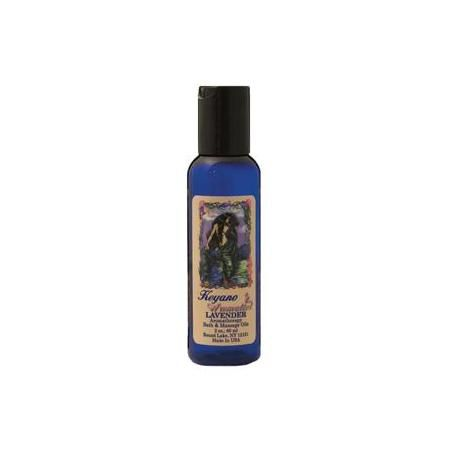 Keyano Aromatherapy Massage Oil 2 Oz Lavender