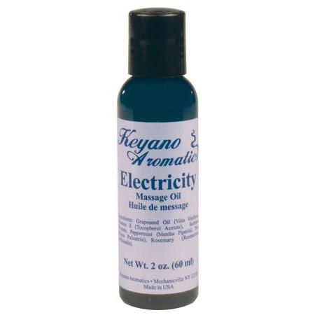 Keyano Aromatherapy Massage Oil 2 Oz Electricity
