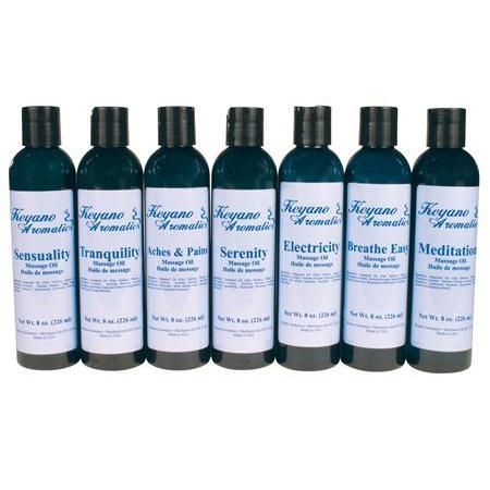 Keyano Aromatherapy Massage Oil 8Oz