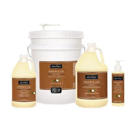 Bon Vital' Coconut Massage Gel with Fractionated Coconut Oil