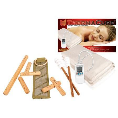 Warm Bamboo Stick Set W/Dvd And Heating Pad