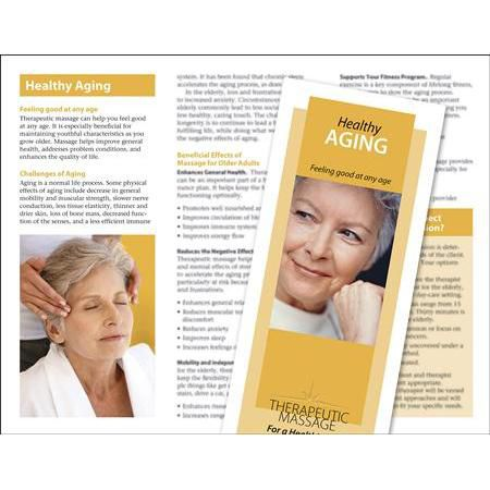 Massage For Healthy Aging Brochure 50 Pack