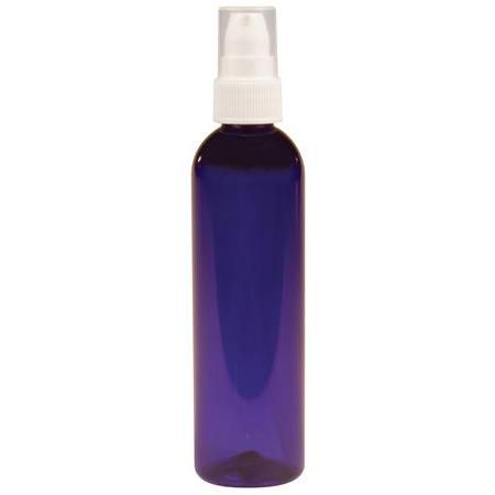 Cobalt Plastic Bottle With White Pump 4 oz
