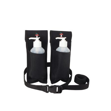 Double Massage Holster For Lotion Bottles Black