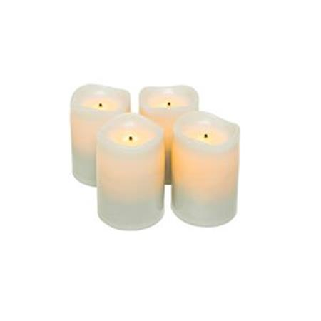 "Rechargeable Flameless Led Votives 1.75""H 4-Pack"