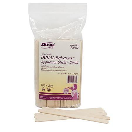 "Dukal Relections™ Wood Applicator Stick, small ""3/8"" x 4 1/2"" - 100/Pk"