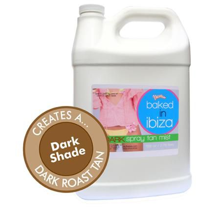 Baked In Ibiza Sunless Tanning Spray Solution 1Gal