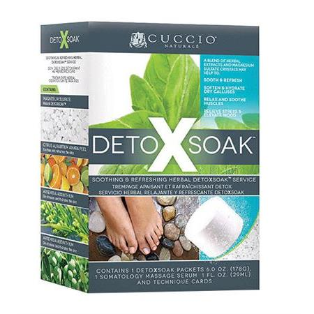 Cuccio Naturale DetoXsoak Kit with 8 packets.