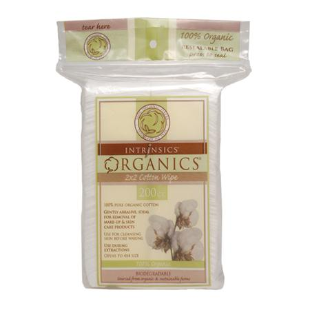 "Intrinsics Organic Cotton 2""X2"" Wipes Opens 4""X4"""