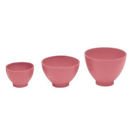 Rubber Mixing Bowls Pink, Set Of 3