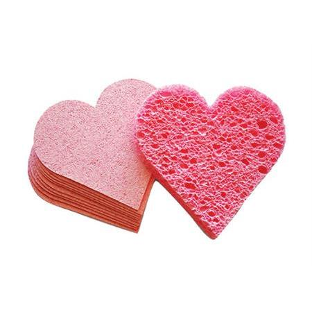 Intrinsics® Pink Heart Compressed Sponges 75 Count
