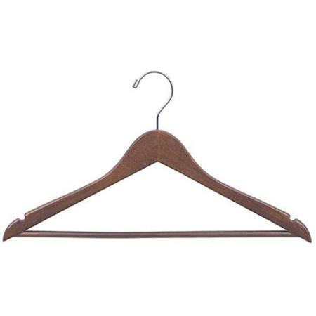 Walnut Robe Hangers, 5 Pack