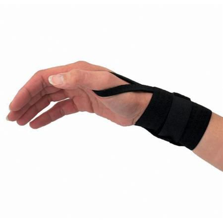 Universal Elastic Wrist Band W/ Thumb Loop Black