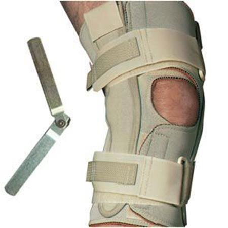 Single Hinged Knee Wrap with Open Popliteal