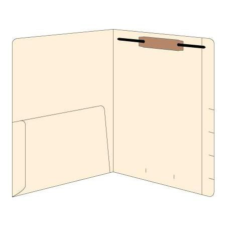Right Hand Single Pocket Folder W/Fastener 50/Box