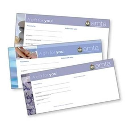 Amta Logo-Massage Therapy Gift Cert- New Designs