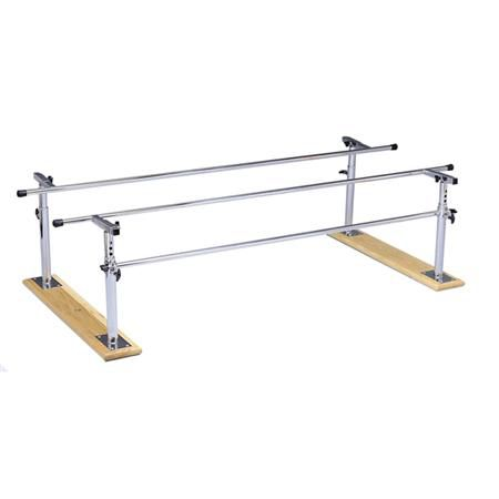 Folding Parallel Bars With Wood Base