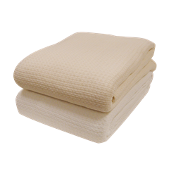 100% Cotton, Woven Blanket 66'W x 90'L - Cotton Massage Blankets