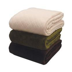 Quilted Mink And Sherpa Fleece Throw