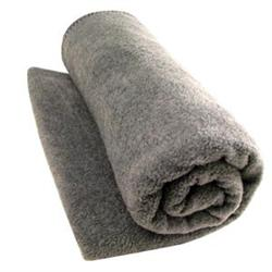 Washable Wool Woven Blanket Gray 66' X 84'