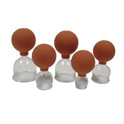 5 Piece Blown Glass Vacuum Cup Set