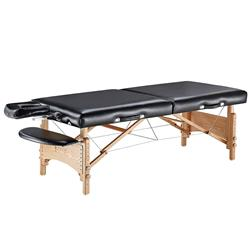 Master® Massage Equipment 32' Husky Gibraltar™ XXL Portable Massage Table Package Black