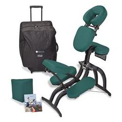 EarthLite Avila II™ Massage Chair Package Hunter Green