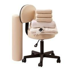 NRG® Basic Room Starter Package includes Massage Table Sheets, Rolling Stool & Bolster