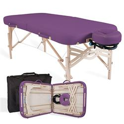 EarthLite Spirit Portable Massage Table Package with 1/2 Standard 1/2 Reiki Endplates