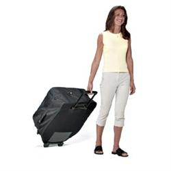 Earthlite Avila Soft Carry Case With Wheels Black