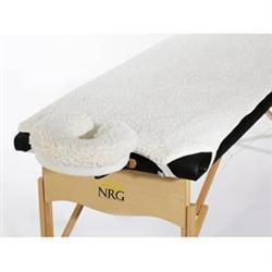NRG Fleece Massage Table Pad and Face Rest Cover Set