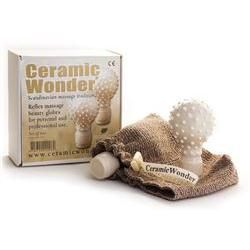 Ceramic Wonder Reflexology Massage Globes, Pair,White