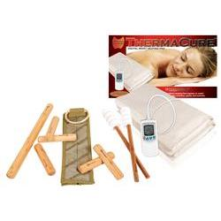 Warm Bamboo Stick Set with DVD And Heating Pad