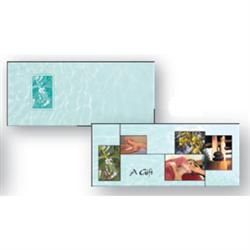 Aqua Collage Gift Certificate 25 Pack