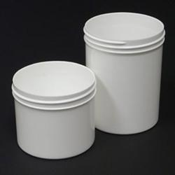 Plastic Jar Only 4 Oz - White