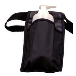 Washable Massage Bottle Holster Single - Black W/ Bottle and Pump