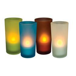 Flameless Frosted 5' Glass Votive Holders