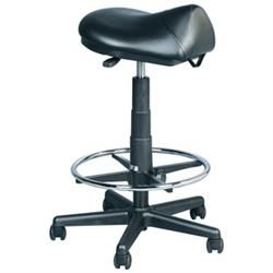 Premium Hydraulic Saddle Stool With Foot Ring