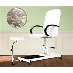 White Hydraulic Pedicure Chair