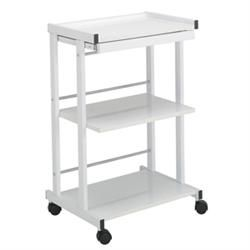 3-Shelf Trolley With Pull Out Shelf & Power Strip