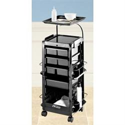 Estheticians Smart Kart With Service Tray Black