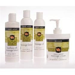 New Lotus Touch Organic Naturals? Massage Lotion, Cream & Oil Kit